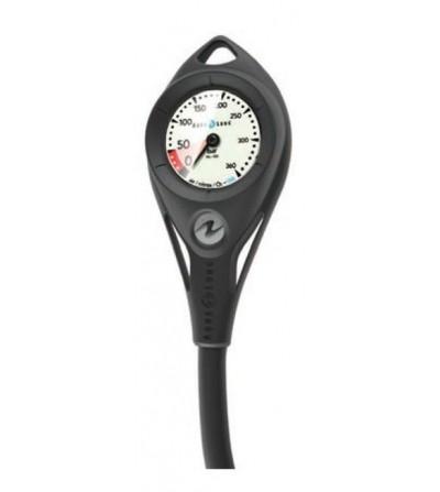 Manomètre Aqualung AL50 300 bars à cadran luminescent avec flexible de 91cm