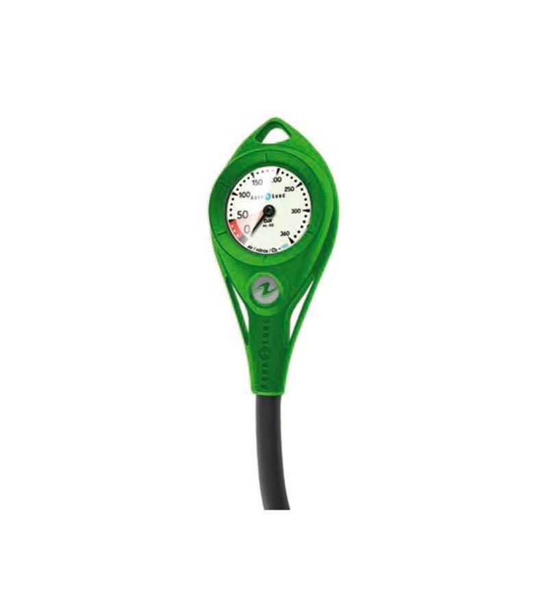 Manomètre Aqualung AL50 300 bars Nitrox / Oxygène à cadran luminescent avec flexible de 18cm