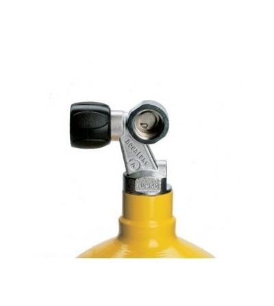 Robinet Z 230 bars 1 sortie Aqualung permettant le montage d'un détendeur Din ou étrier (opercule vendu séparément)