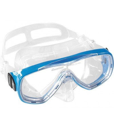 Masque à verre unique Cressi Onda en silicone transparent pour le snorkeling, la natation & la plongée. Bleu