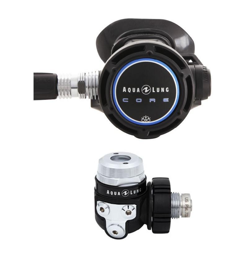 Détendeur de plongée compensé spécial eau froide Aqualung Core supreme ACD DIN 300 bar avec chambre sèche