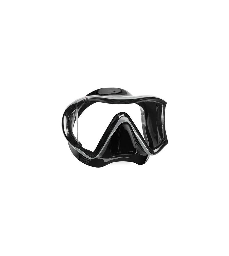 Masque monoverre Mares i3 avec jupe en silicone avec vitres latérales pour un champ de vision sans égal - Noir