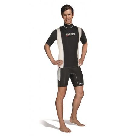 La sous-combinaison Mares Fire Skin manches courtes peut s'utiliser seule ou comme sous-vêtement - Pour Homme