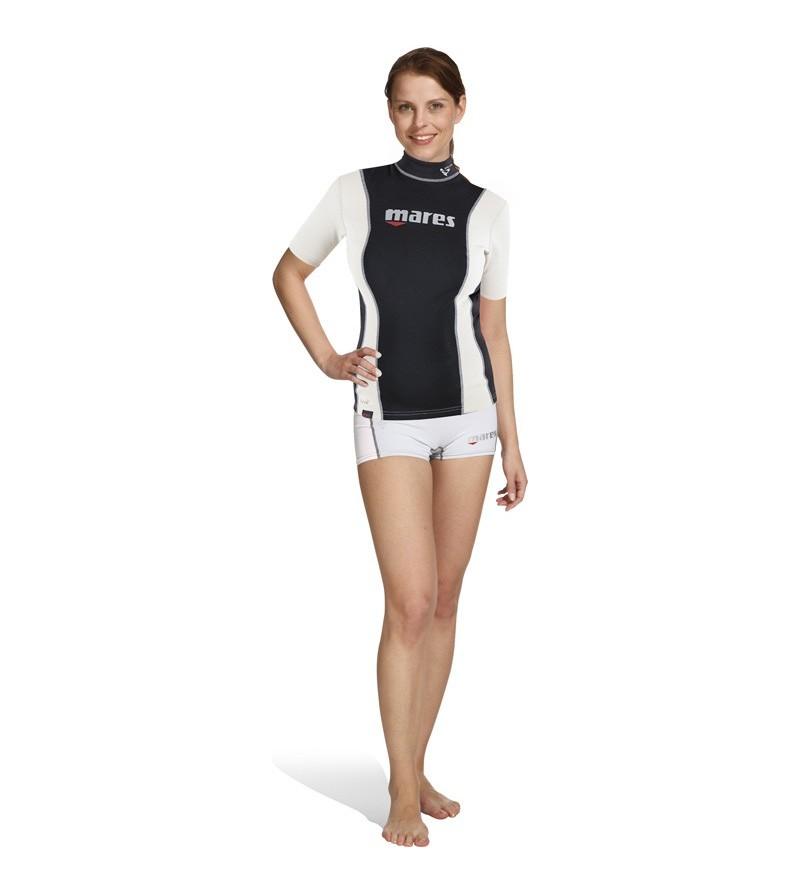 La sous-combinaison Mares Fire Skin She Dives manches courtes peut s'utiliser seule ou comme sous-vêtement - Pour Femme