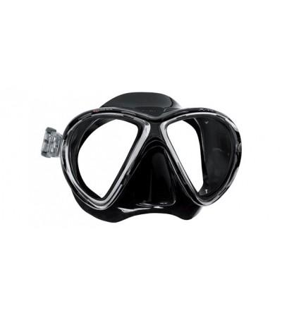 Masque deux verres à petit volume Mares X-VU Noir pour la plongée, la chasse sous-marine & le snorkeling