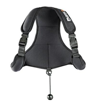 Gilet de lestage en néoprène Noir avec poches à plomb et harnais réglable Mares Pure Instinct pour la chasse sous-marine