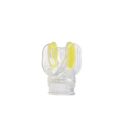 Embout de rechange pour deuxième étage de détendeur Mares en bi-silicone Liquidskin - Transparent / jaune