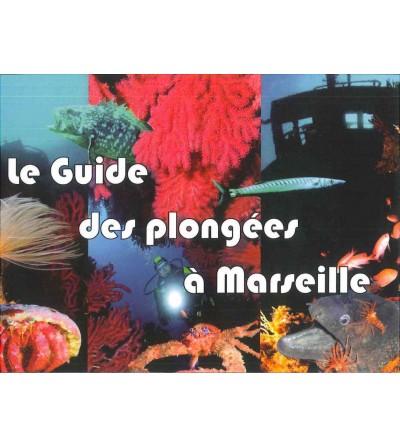 Carnet relié détaillant une vingtaine de sites de plongée autour de Marseille avec coordonnées GPS, profondeur, répères