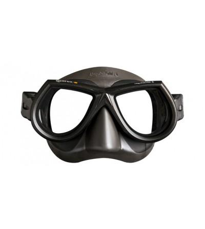 Masque d'apnée et chasse sous-marine Mares Pure Instinct Star SF en silicone Liquidskin - gris/noir
