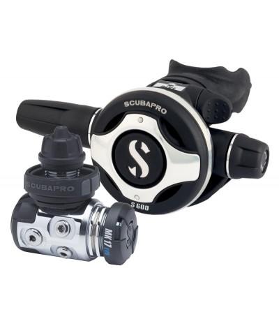 Détendeur compensé de plongée Scubapro MK17 EVO/S600 DIN spécialement approprié pour l'eau froide ou trouble