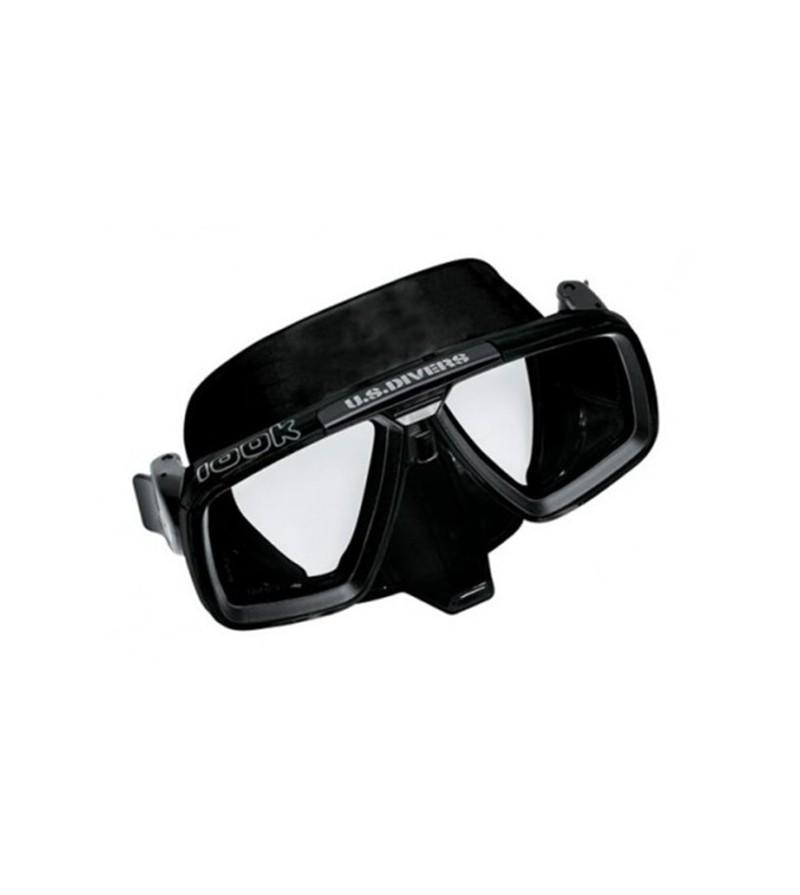 Masque deux verres Aqualung Look Noir avec verre trempé pour la plongée, la chasse sous-marine, l'apnée & le snorkeling