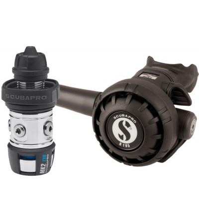 Détendeur non compensé à piston aval classique de plongée Scubapro MK2 EVO / R195 DIN robuste & compatible eau froide