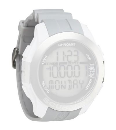 Bracelet de rechange pour montre ordinateur de plongée Scubapro Chromis - blanc