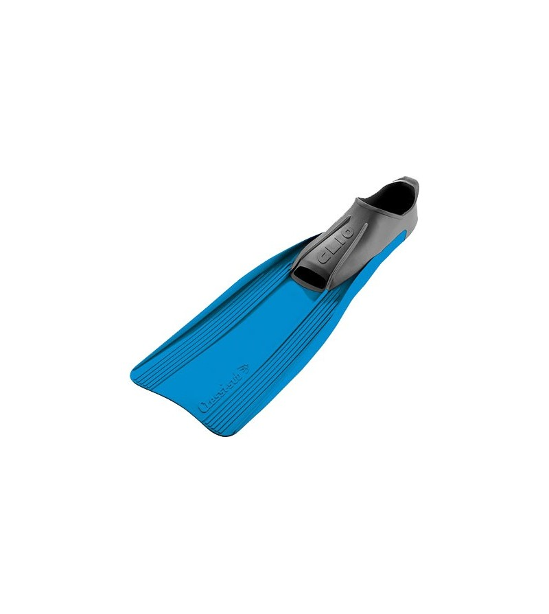 Palmes chaussantes Cressi rondine Clio Kid à voilure longue pour le snorkeling et la randonée PMT. Bleu
