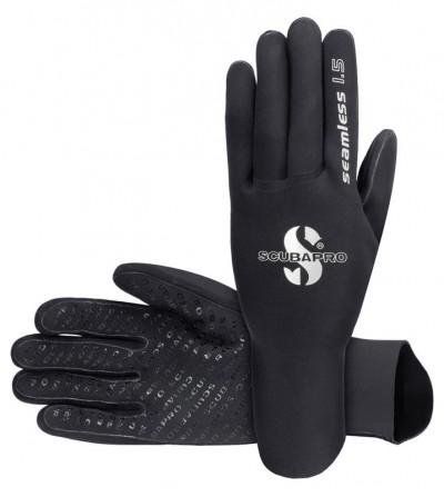 Gants de plongée Scubapro Seamless en néoprène 1.5mm avec coutures thermosoudées & revêtement antiglisse pour eau chaude
