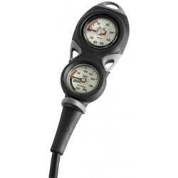Console à deux instruments analogiques de plongée Mares Mission 2 avec manomètre et profondimètre à bain d'huile