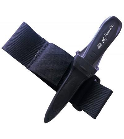 Petit couteau Dague Dessault Cinto spécial chasse sous-marine avec lame de 85mm crantée & lisse traitée téflon