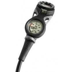 Console à deux instruments analogiques de plongée Mares Mission 2C avec manomètre & compas incliné
