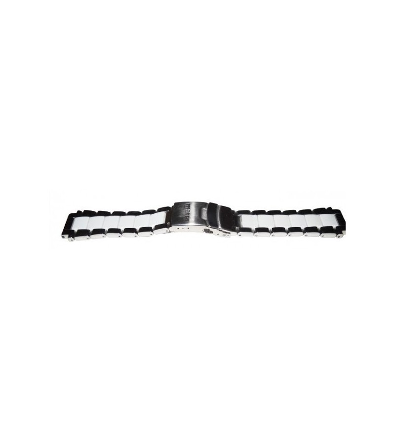 Bracelet élégant optionnel Mares en inox pour montre ordinateur Matrix avec système de blocage et extension - blanc