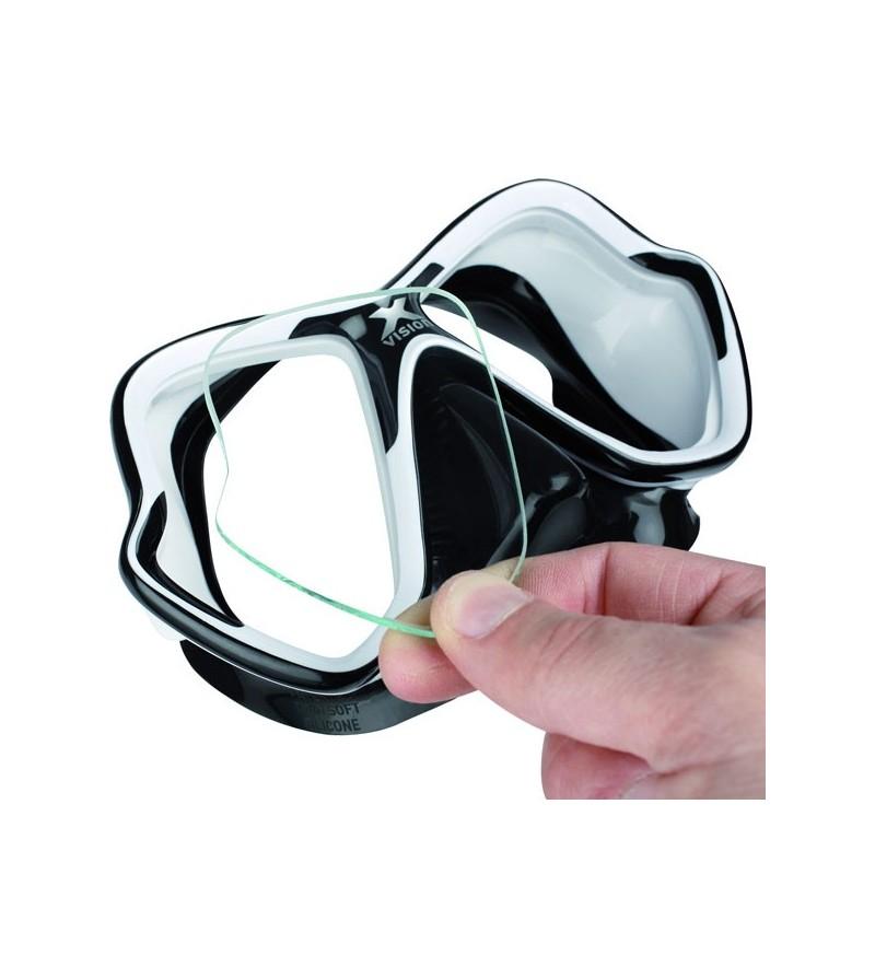 Lentille de correction optique pour verres des masques Mares X-VIsion pour la plongée & le snorkeling