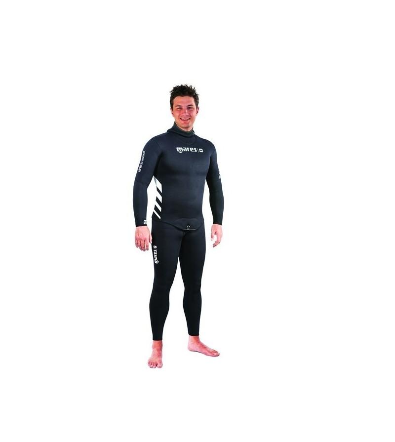 Veste de combinaison d'apnée homme Mares Pure Insctinct Apnea Instinct 50 en néoprène refendu 5mm & 3.5mm avec cagoule