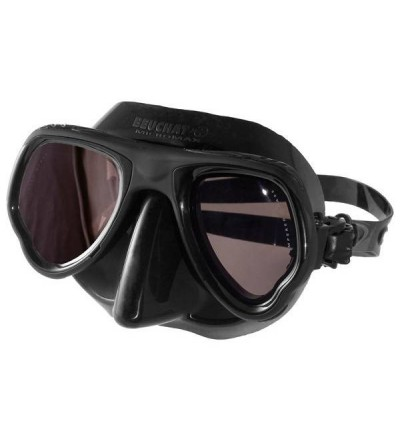 Masque noir à petit volume Beuchat Micromax avec jupe en silicone & verres miroir pour la chasse sous-marine & l'apnée