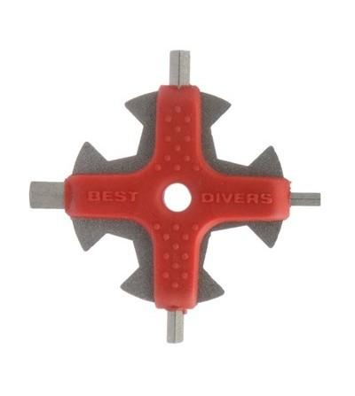 Multitool Best Divers : Poignée de clés pour l'entretien de votre matériel de plongée