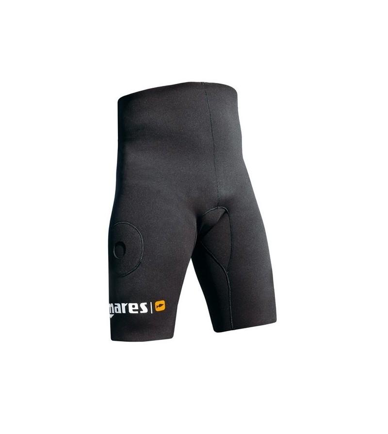 Short / bermuda de lestage en néoprène noir 2mm avec poches à plomb Mares Pure Instinct pour la chasse sous-marine