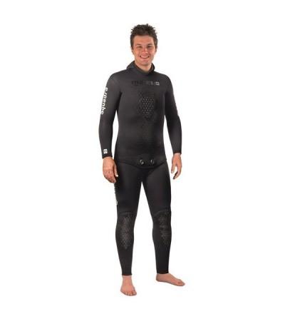 Pantalon salopette de combinaison Mares Pure Instinct Squadra 55 en néoprène refendu 5.5mm pour la chasse sous-marine et l'apnée