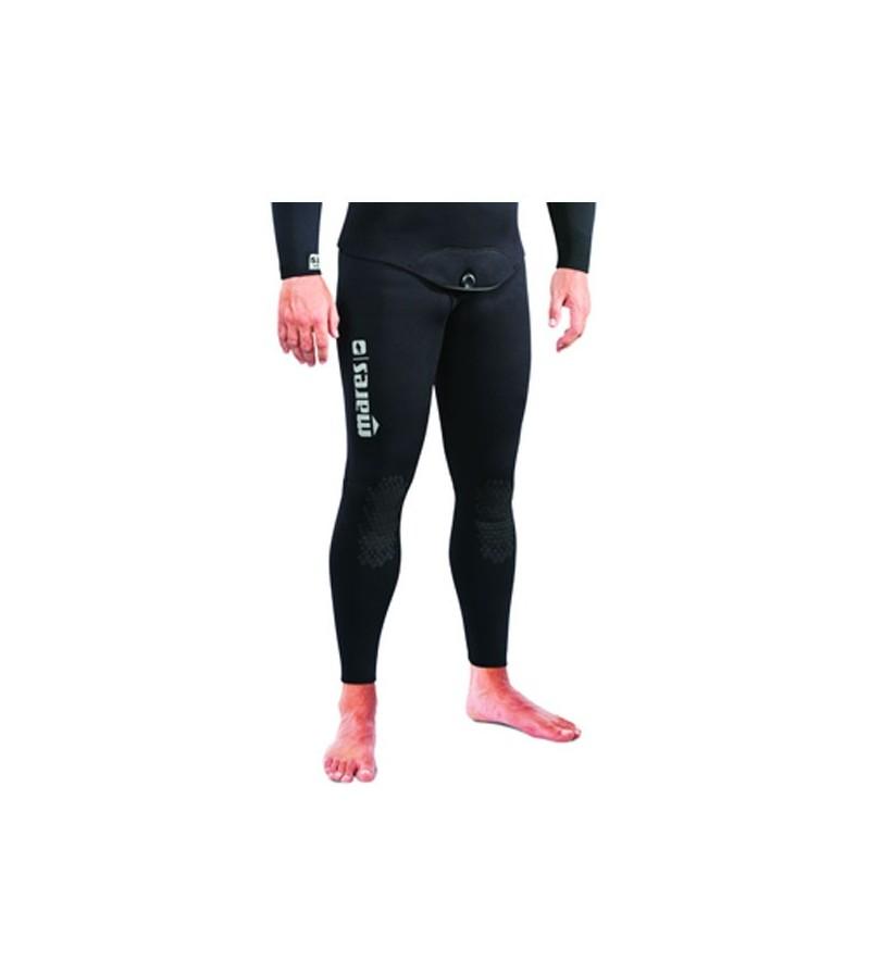 Pantalon de combinaison Explorer 70 en refendu 7mm noir Mares Pure Instinct pour la chasse sous-marine et l'apnée
