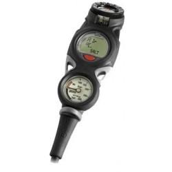 Console instrument de plongée Mares Mission Puck 3 avec ordinateur Puck + manomètre & compas analogiques
