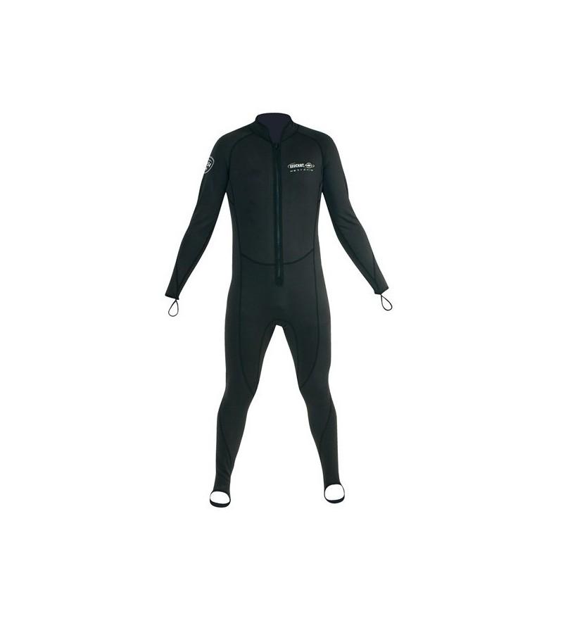 Sous-vêtement polaire monopièce de plongée Beuchat Heatskin pour combinaison étanche ou vêtement sec