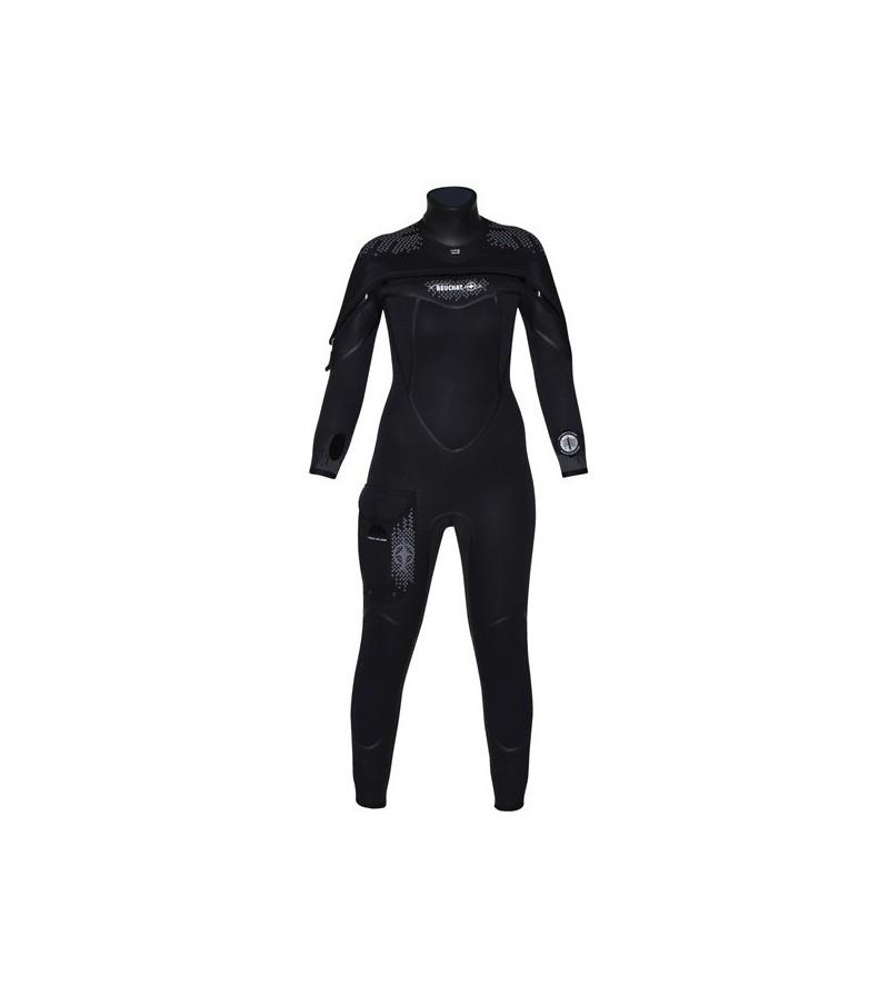 Combinaison semi-étanche Beuchat Semi-Dry X-Trem 6.5mm Femme en néoprène souple Elaskin pour la plongée en eau froide à tempérée