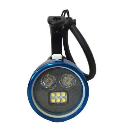 Phare de plongée à LED Bersub Focus 2/6 à accu rechargeable Lithium-ion pour la photo, la vidéo et l'exploration sous-marine