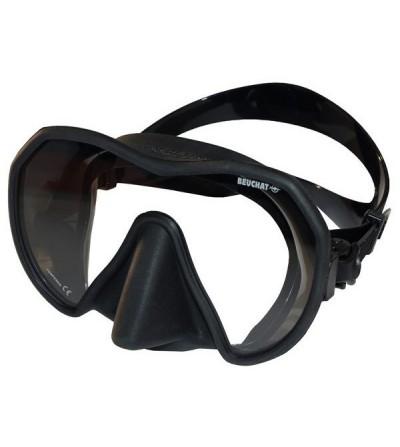 Masque Monoverre Beuchat Maxlux à petit volume en silicone pour la chasse sous-marine, la plongée & le snorkeling - noir