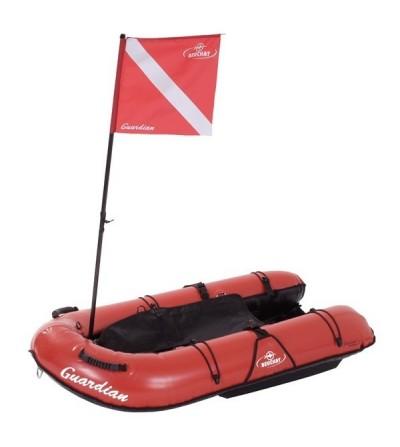 Bouée Planche gonflable Beuchat Guardian, signalisation de surface et transport de matériel en chasse sous-marine, apnée et PMT
