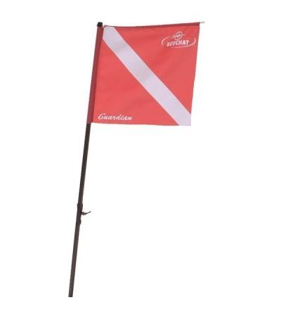 Mat avec drapeau pavillon pour bouée planche Beuchat Guardian - accessoire & pièce de rechange