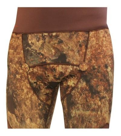 Pantalon de combinaison recoupable Beuchat Rocksea Pro Competition en néoprène refendu 7mm camouflage pour la chasse sous-marine