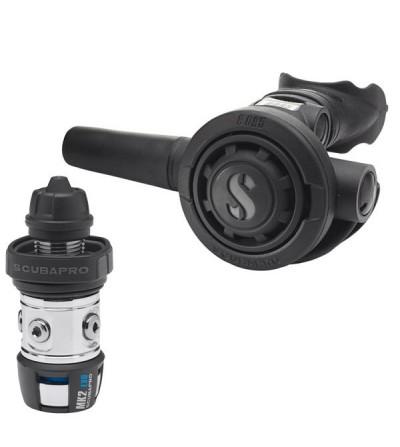 Détendeur non compensé à piston aval classique de plongée Scubapro MK2 EVO / R095 DIN robuste & compatible eau froide