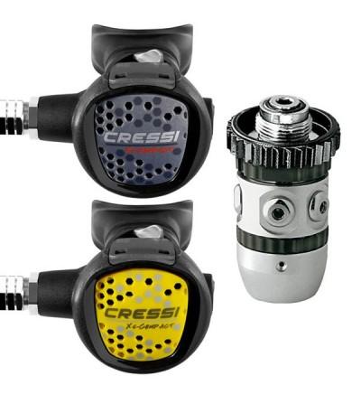 Pack idéal pour débuter ou utilisation club avec Détendeur AC2 XS Compact DIN & Octopus XS Compact