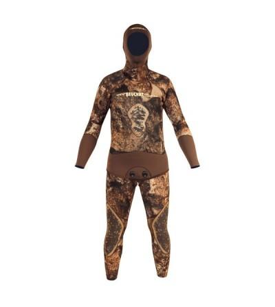 Veste Haut de combinaison Beuchat Rocksea en néoprène refendu 9mm camouflage pour la chasse sous-marine et l'apnée