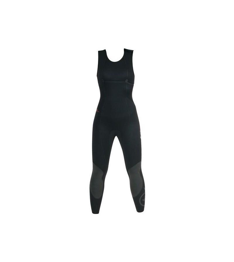 Pantalon Pro de combinaison Femme Beuchat Athena en néoprène souple Elaskin refendu 7mm pour la chasse sous-marine et l'apnée
