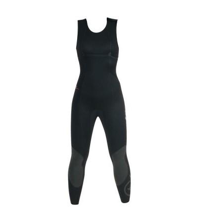 Combinaison Femme Beuchat Athena veste + pantalon en néoprène souple Elaskin refendu 7mm pour la chasse sous-marine et l'apnée