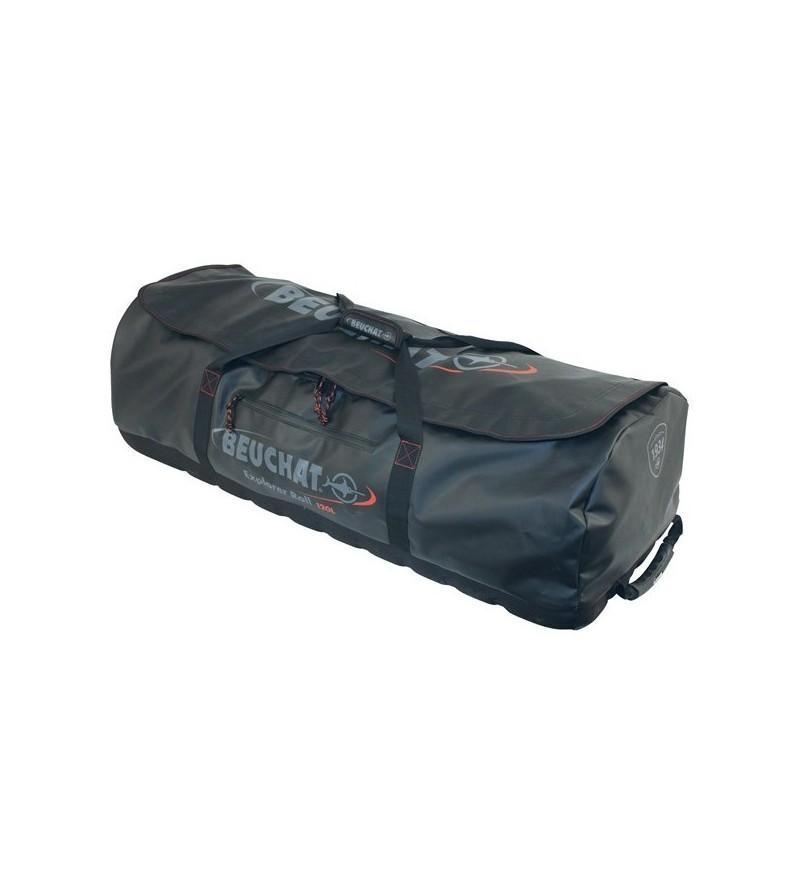 Sac à roulettes Beuchat Explorer Roll de 120 litres pour les voyages avec vos longues palmes de chasse et apnée sous-marine