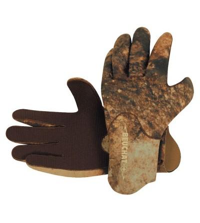 Gants camouflage en néoprène Elaskin très souple Beuchat Rocksea épaisseur 2mm pour la chasse sous-marine & l'apnée