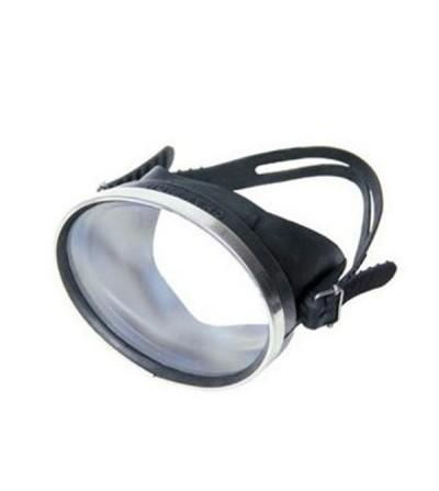 Masque monoverre vintage Beuchat Senior Securit avec jupe en caoutchouc et cerclage métallique - Plongée, chasse & Snorkeling