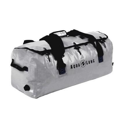 Sac étanche Aqua Lung Defense XL 105 litres en tarpaulin gris avec purge de vidange et poignées de portage