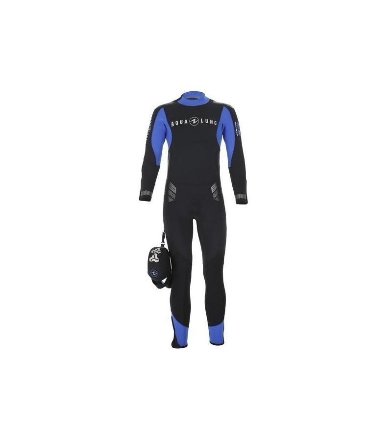 Combinaison Homme monopièce humide de plongée Aqua Lung Balance Comfort néoprène 5.5mm zip dorsal, sans cagoule & double manchon