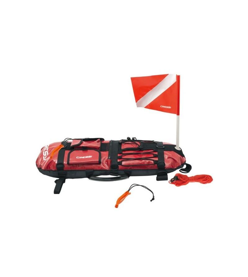 Bouée gonflable Cressi Planche Signal en PVC armé rouge pour la chasse sous-marine depuis le bord