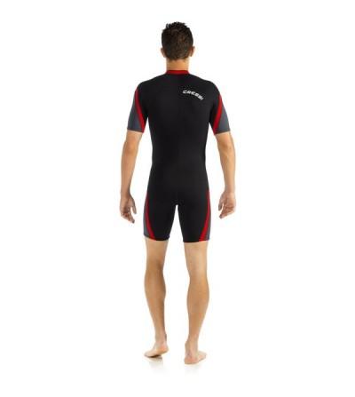 Shorty Homme Cressi Playa en néoprène 2.5mm doublé deux faces pour la plongée & le snorkeling en eau chaude